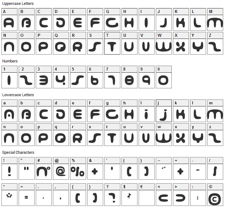 001 Interstellar Log Font Character Map