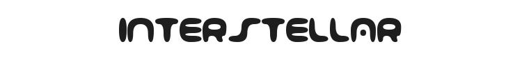 001 Interstellar Log Font Preview