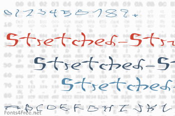 001 Stretched-Strung Font