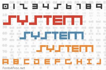 001 System Analysis Font