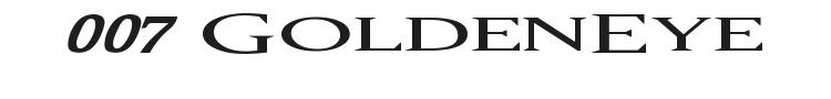 007 GoldenEye Font
