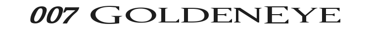 007 GoldenEye Font Preview