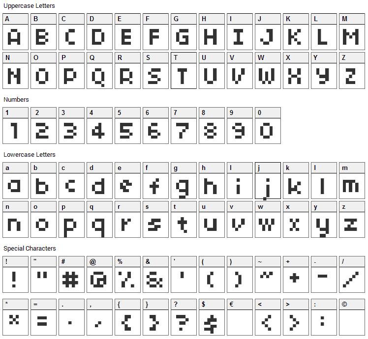 04b_03 Font Character Map