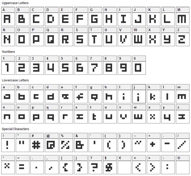 04b_03b Font Character Map