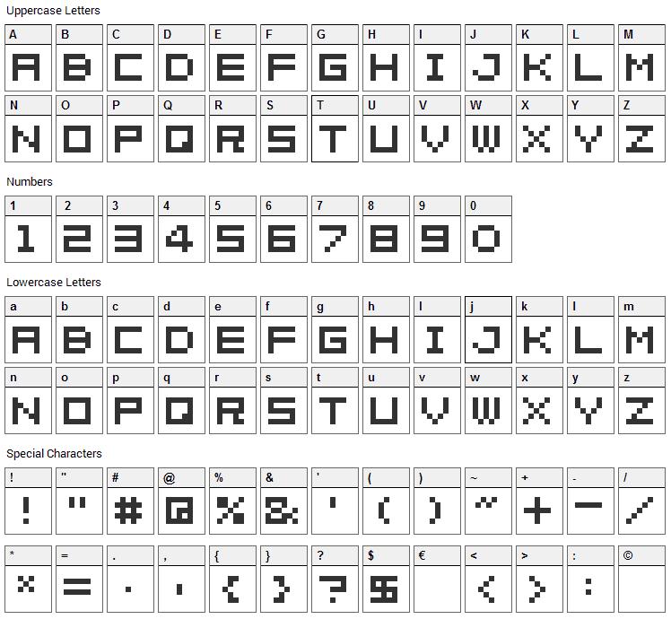 04b_08 Font Character Map
