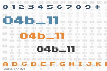 04b_11 Font