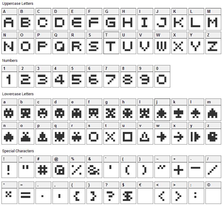 04b_21 Font Character Map