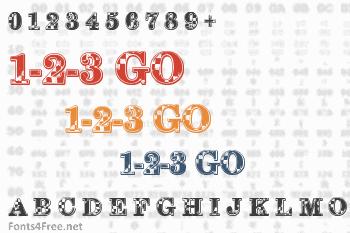 1-2-3 GO Font
