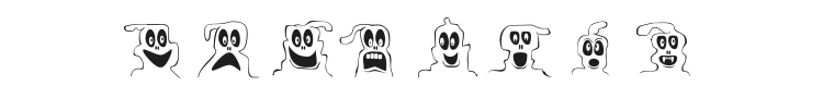 10 Lil ghosts Font Preview