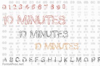 10 Minutes Font