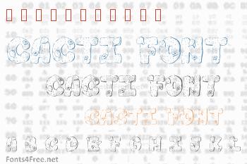 101 Cacti Font
