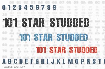 101 Star Studded Font