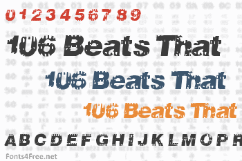 106 Beats That Font