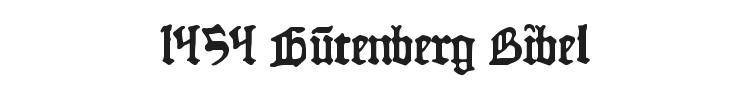 1454 Gutenberg Bibel Font Preview