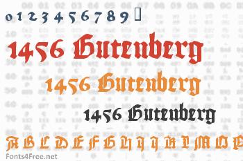 1456 Gutenberg Font