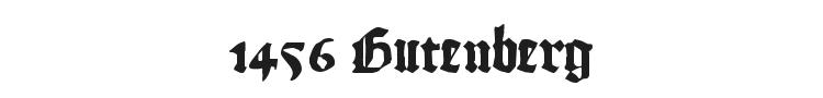 1456 Gutenberg Font Preview