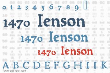 1470 Jenson Font