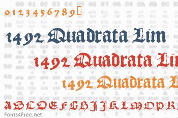 1492 Quadrata Lim Font