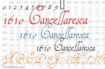 1610 Cancellaresca Font