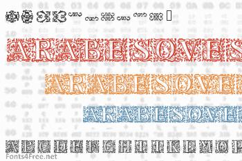 16th Arabesques Font