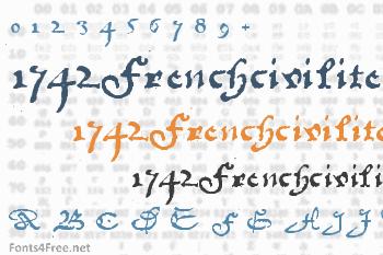 1742Frenchcivilite Font