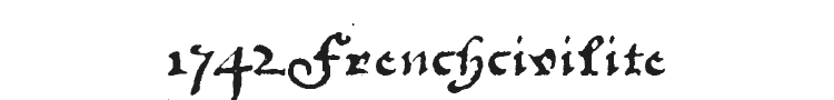 1742Frenchcivilite Font Preview