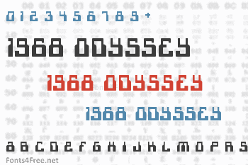 1968 Odyssey Font