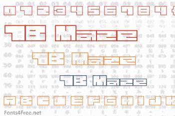 1B Maze Font