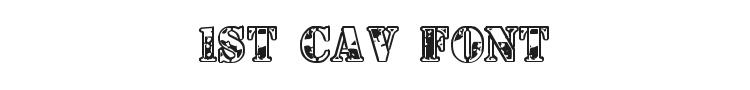 1st Cav Font Preview