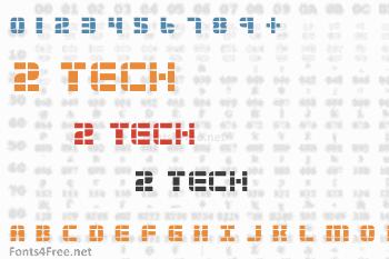 2 Tech Font