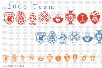 2006 Team Font