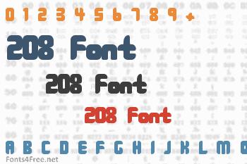 208 Font