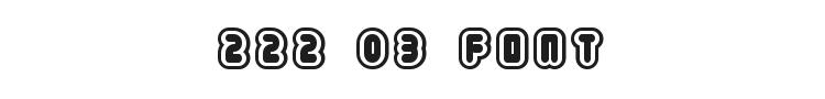 222.03 Font