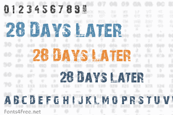 28 Days Later Font