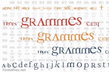 3 grammes 5 Font