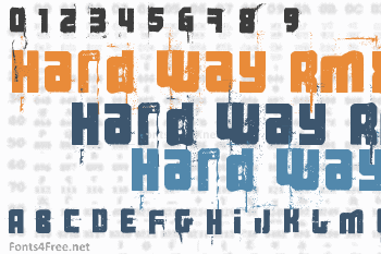 3 the hard way rmx font free download