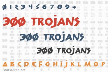 300 Trojans Font