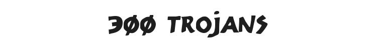 300 Trojans Font Preview