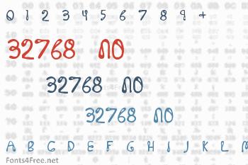 32768 NO Font