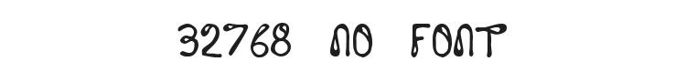 32768 NO Font Preview