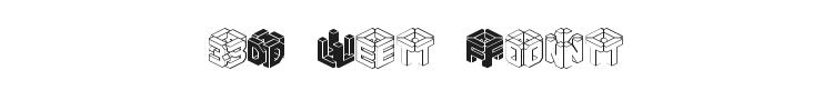 3D Let Font