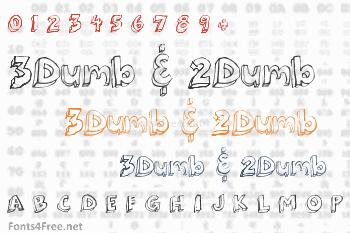 3Dumb & 2Dumb Font