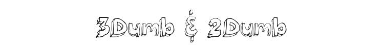 3Dumb & 2Dumb Font Preview