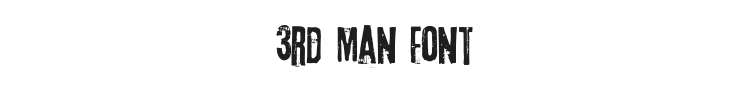 3rd Man Font Preview