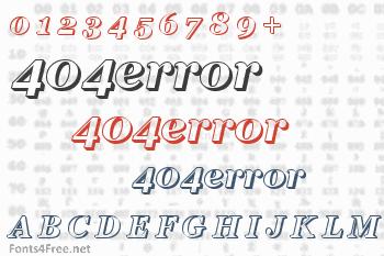 404error Font
