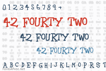42 Fourty Two Font