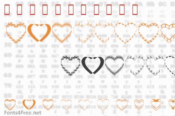 4YEO Hearts Font