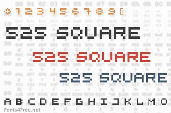 525 Square Font