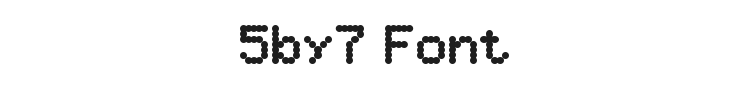 5by7 Font