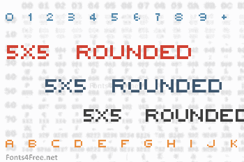 5x5 Rounded Font